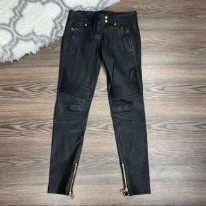 Balmain H&M Leather Pants Size 8